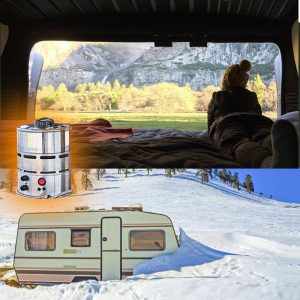 RV camping with carbon monoxide free heater
