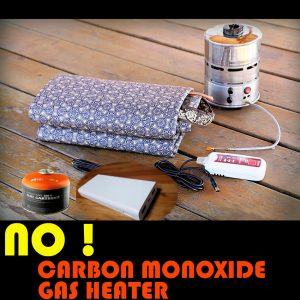 carbon monoxide free heater for RV camping